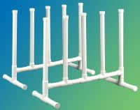 Pool Float Storage Ideas diy pvc pool side storage for pool floats and toys Float Storage Rack