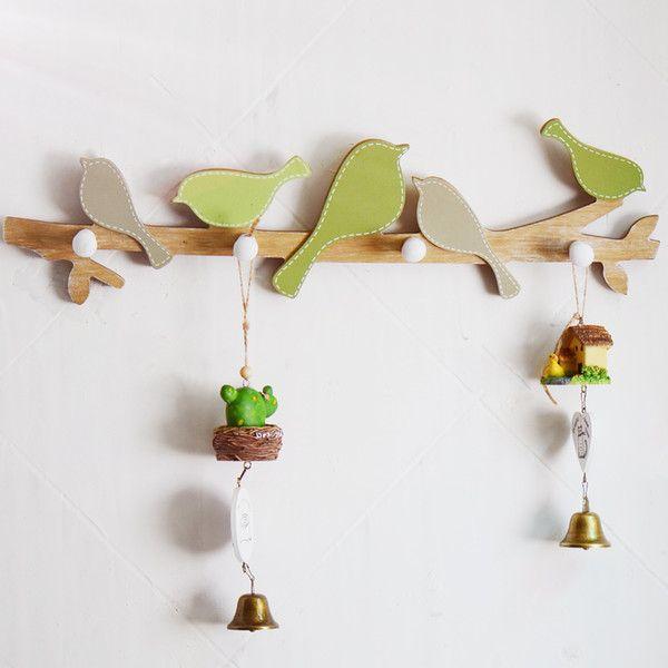 Деревянные вешалки для одежды крючки вешалки деревянные вешалки птицы стены вешалки Крючки украшения стены корабля подарки 18,9 х 5,11 дюйма