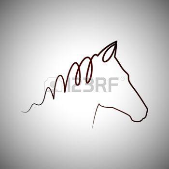 cheval dessin: Logo de dessin de cheval Illustration