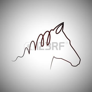 cheval dessin: Logo de dessin de cheval Illustration