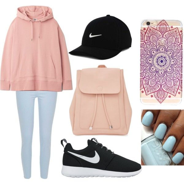 A fashion look from August 2016 featuring River Island jeans, NIKE shoes and New Look backpacks. Browse and shop related looks.