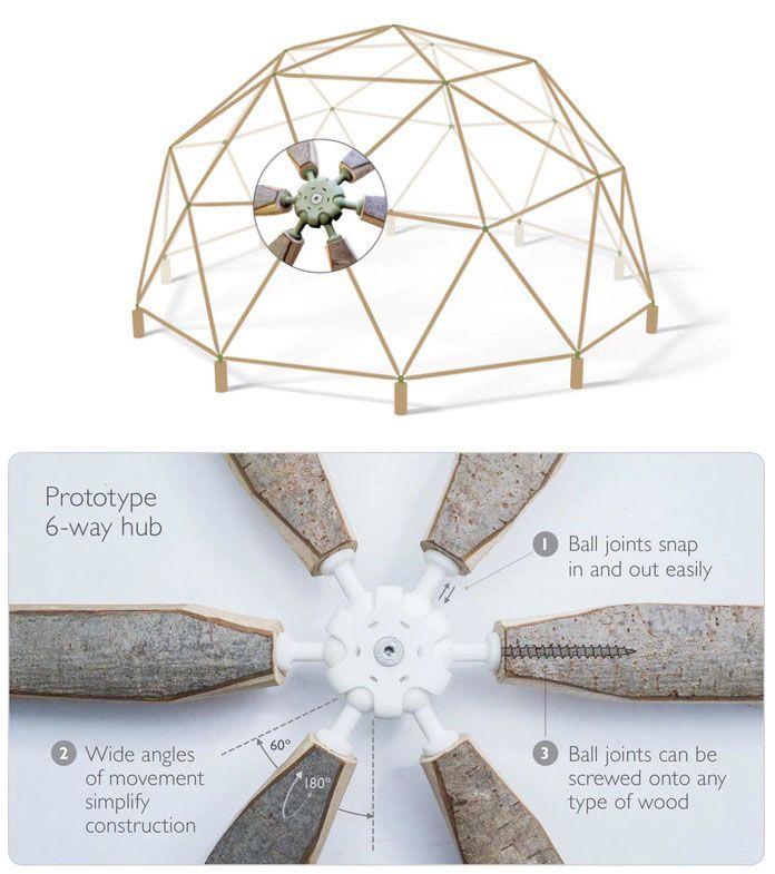2x6 Heavy Duty Wood Geodesic Hub Kit: Resultado De Imagen Para DISEÑO DOMOS