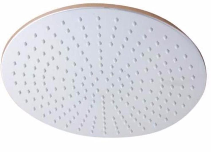 Solid Metal 12 Inch Round Rain Shower Head Drenching 2.5 GPM Rainfall