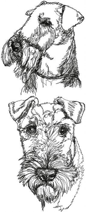Advanced Embroidery Designs - Airedale Terrier Set