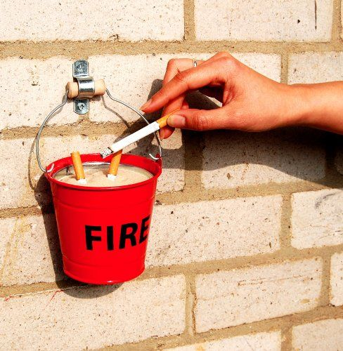 Fire Bucket Ashtray  $18.. If I had a brick home.