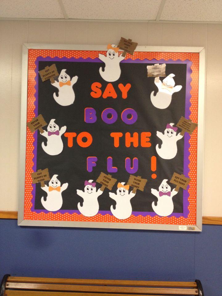 Say Boo To The Flu School Nurse School Nurse Office