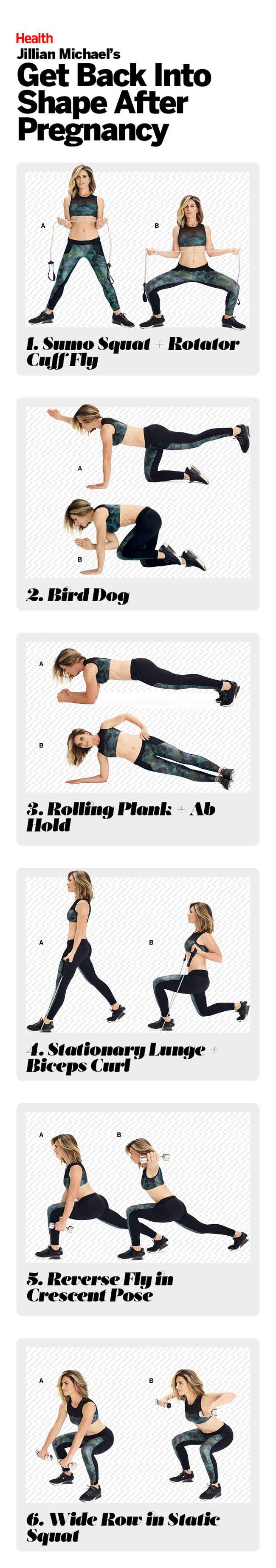 Pregnancy does a number on your body, but it is possible to get your strength, symmetry, and balance back. Follow this at-home post-pregnancy workout from Jillian Michael to strengthen your core, hips, and glutes after giving birth.