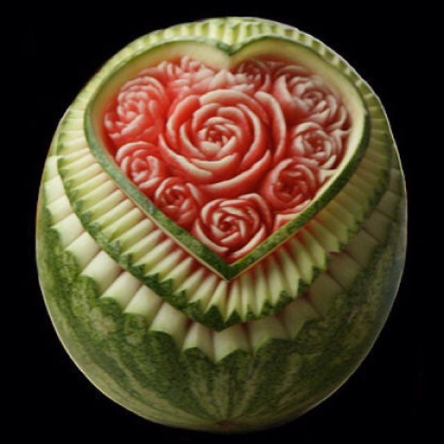 Best Watermelon Carving Images On Pinterest - Incredible sculptures carved watermelon