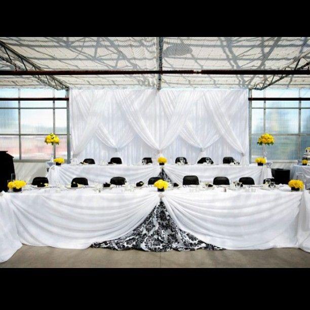 #wedding #events #weddings #blackandyellow #weddingplanner #weddingplanning #bride #groom #poshbeyondevents #followus #headtable #backdrop #greenhouse