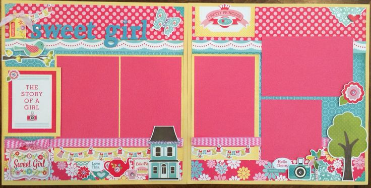 Such a cute kit using the Echo Park Sweet Girl paper line.