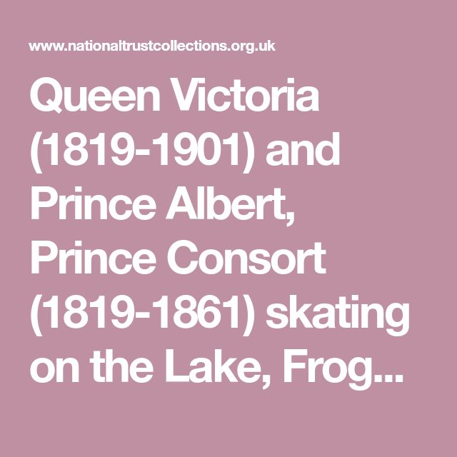 Queen Victoria (1819-1901) and Prince Albert, Prince Consort (1819-1861) skating on the Lake, Frogmore 516224 | National Trust Collections