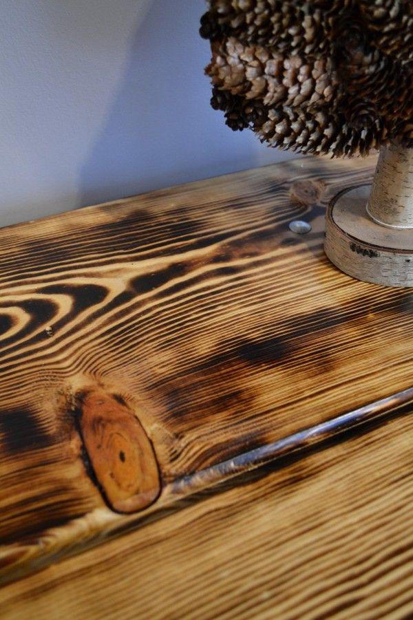 How to DIY Burned Wood Finish  woodworking  Wood floor