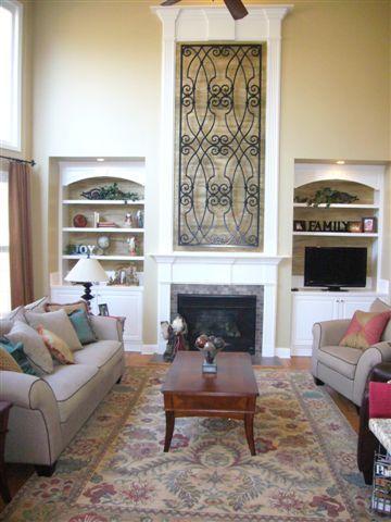 Fireplace Home Design Interior Living Room