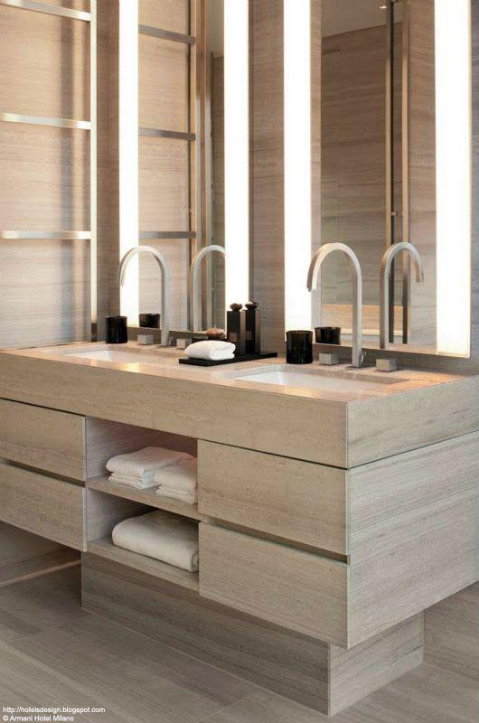 divine styling for the contemporary bathroom (gorgeous taps)! Armani Hotel Milano_Les plus beaux HOTELS DESIGN du monde