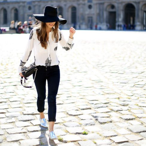 looks-com-calça-preta-sapato-oxford-prateado-chapéu