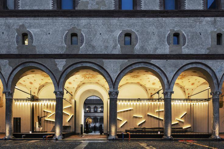 Waterway istallation, design Piero Lissoni. Water and Sastainability. Photo: Simone Furiosi