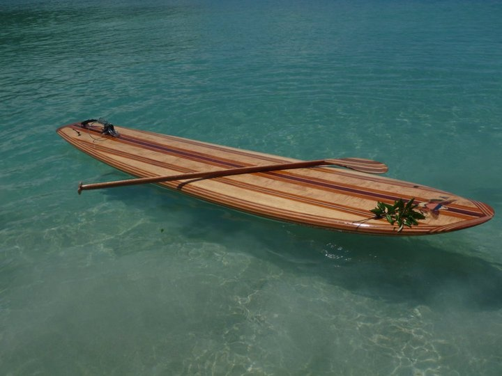 hand made wooden strip stand up paddleboard paddle board. Black Bedroom Furniture Sets. Home Design Ideas