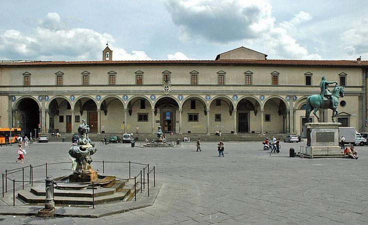 Filippo Brunelleschi's Hospital in Florence - First Renaissance Masterpiece -- Ospedale Degli Innocenti