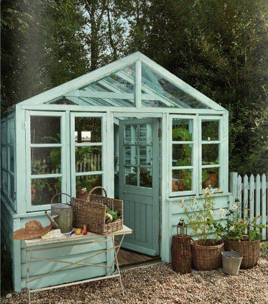 Decorar un invernadero con azul chalk paint ideas for - Invernadero en terraza ...