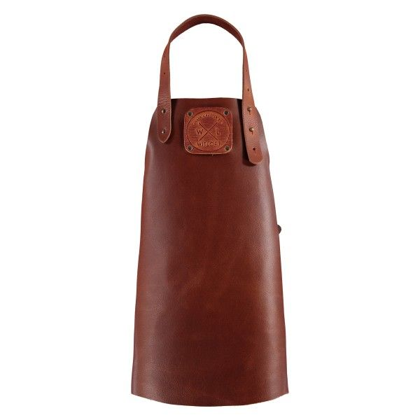 Kids' Personalised Handmade Dutch Leather Apron in Cognac with Cognac Detail...