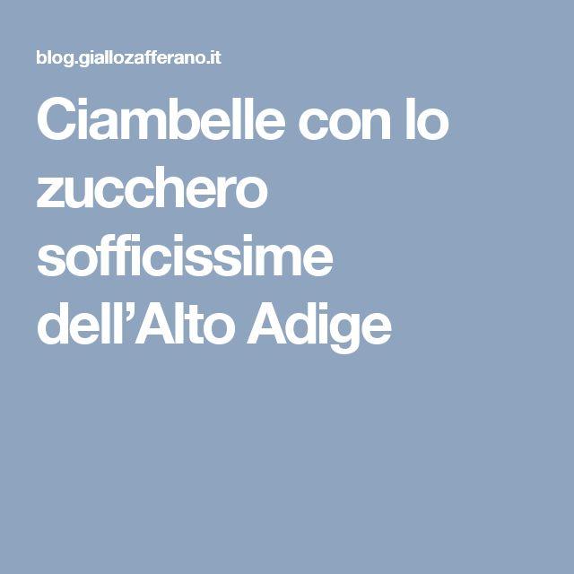 Ciambelle con lo zucchero sofficissime dell'Alto Adige