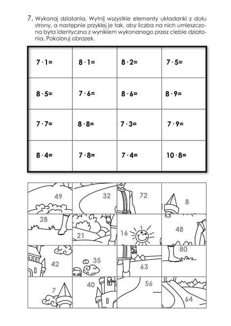 matematyczne kolorowanki puzzle - Szukaj w Google