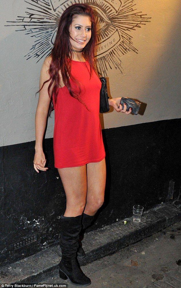 Party girl: Geordie Shore star Chloe November was seen enjoying a wild night in Newcastle on Thursday
