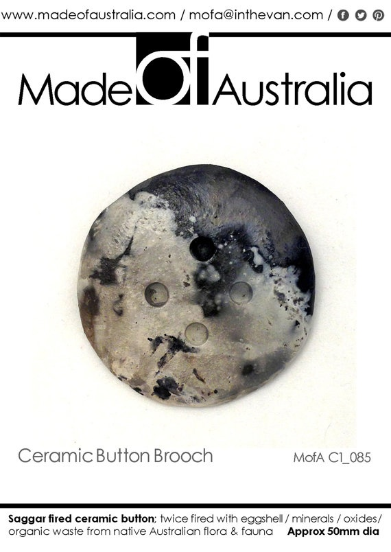 Ceramic  Button Brooch by MadeOFAustralia on Etsy, $59.00