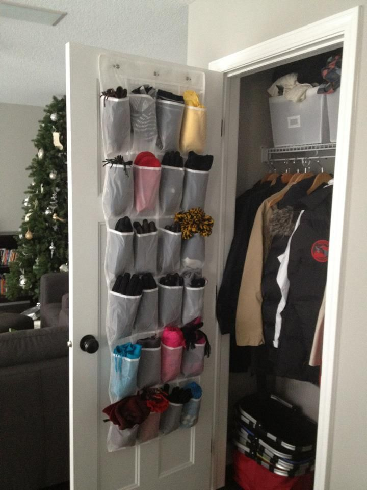 1000 images about scarf and gloves organizing on pinterest for Hat organizer for closet