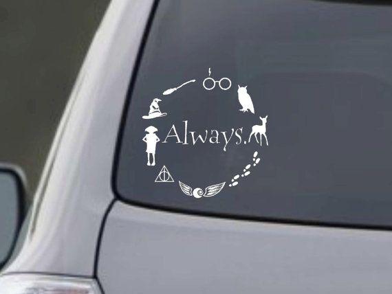 Harry Potter inspirada etiqueta del vinilo 5,5 x 5,5 pulgadas