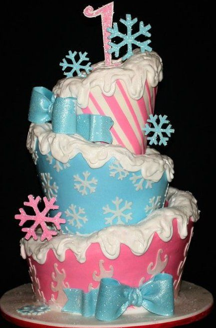 Christmas Candy-Land. ~ This has to be 1 of the coolest looking cakes for a 1 year old's birthday!! Love it!!