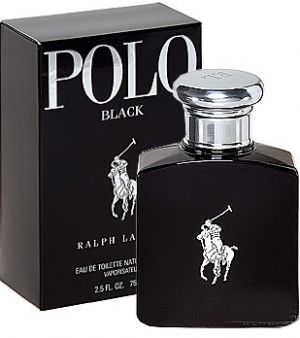 Polo Black Ralph Lauren for men. This sophisticated fragrance is a bold fusion of iced mango, silver armoise and patchouli noir.