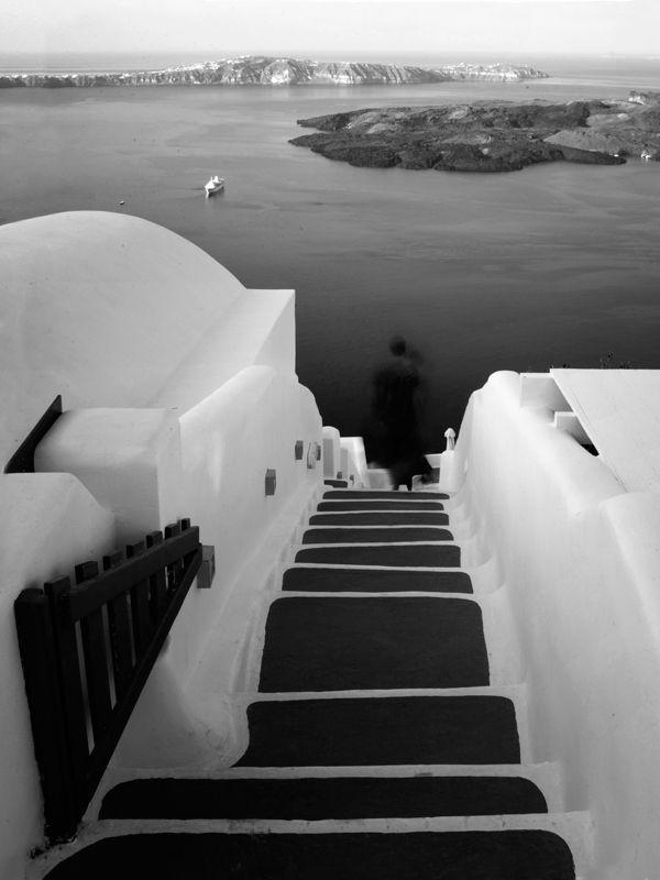 Hotel entrance in Imerovigli, Santorini, Greece