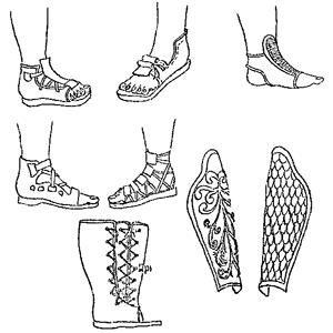 Обувь древних римских солдат