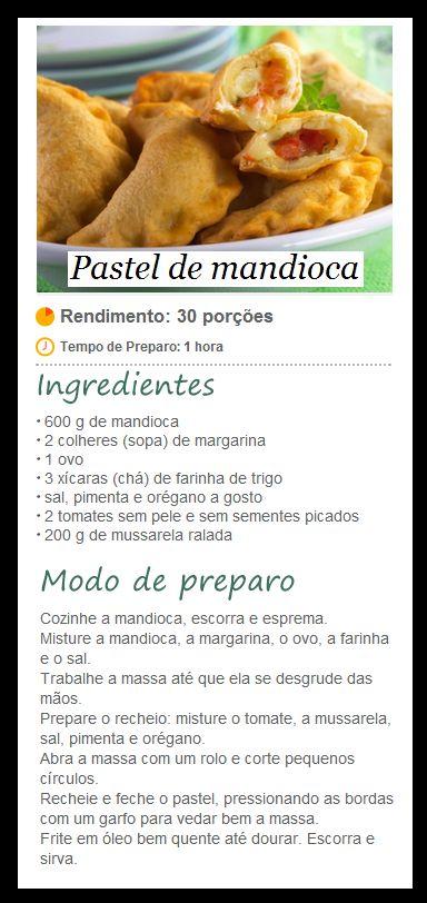 Lanche/Salgado - Pastel de mandioca