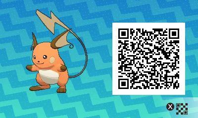 Shiny Female Raichu! Pokemon Sun / Moon QR Codes - Imgur