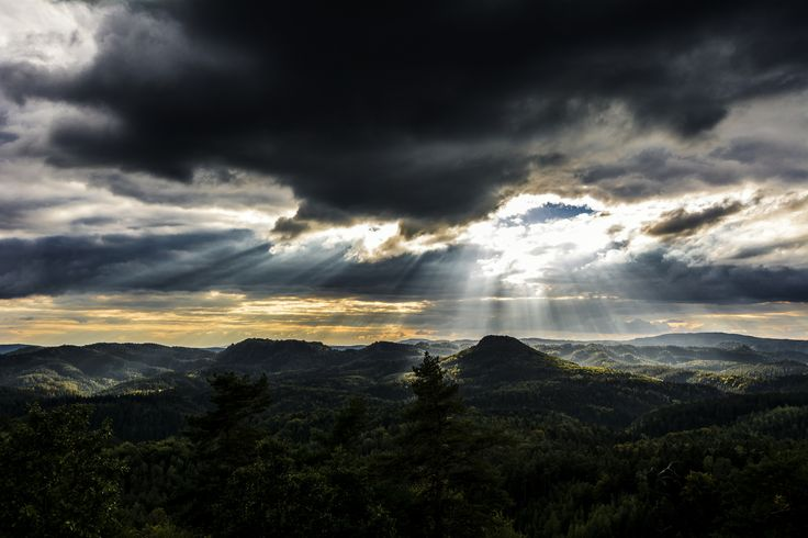 "https://flic.kr/p/RMLLno | Lone Mountain | I took this photo on one of the last days on my trip to saxony 2015. This day the weather was very rainy. But on the top of the mountain ""Königsstuhl"" the clouds opened one big hole which filled the area with sunlight. It was just for a moment. The long way home was dark and difficult.    Das Foto entstand an einem der letzten Tag auf meinen Sächsischen Schweiz Trip 2015. An diesem Tag gab es eigentlich nur schlechtes Wetter. Doch an der S..."