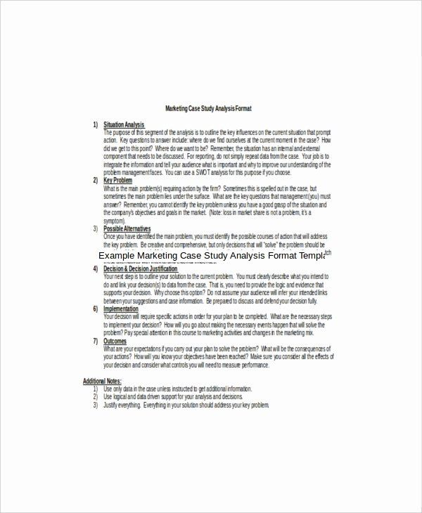 Example Of Case Studie New 8 Marketing Study Template Free Sample Social Work Essay Examples