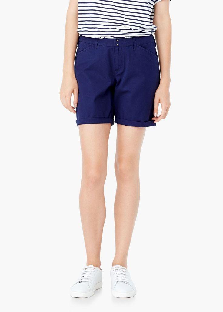 Bermude din bumbac - Pantaloni pentru Femei   MANGO