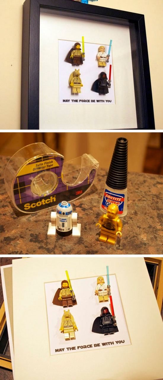 Star Wars Lego Art   DIY Fathers Day Gift Ideas from Daughter   DIY Birthday Gifts for Boyfriend