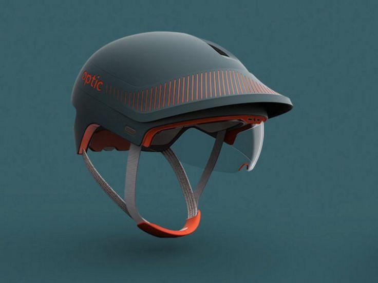 Un prototype de casque de vélo pourvu d'une visière en réalité augmentée pour accroître la sécurité des cyclistes, a été récompensé d'un Red Dot Award 2016