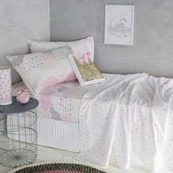 The Dream Cloud Flannelette collection is a great addition to your kid's bedroom, the warm cotton flannelette keeps them extra warm and cosy in winter. The fully reversible quilt cover keeps the look fresh and versatile with patchwork style clouds on one side and multi-coloured spots on the reverse.. Combine the Dream Cloud Flannelette Quilt Cover with the Dream Cloud Flannelette Sheet Set to recreate this look.