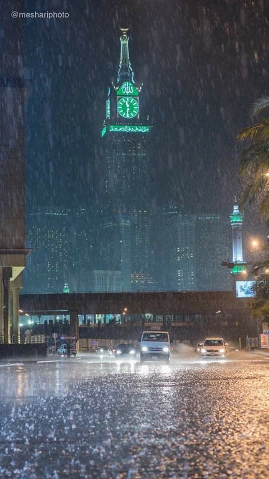 مكة المكرمة في وقت مطر Mecca Kaaba Mecca Islam Mecca Wallpaper