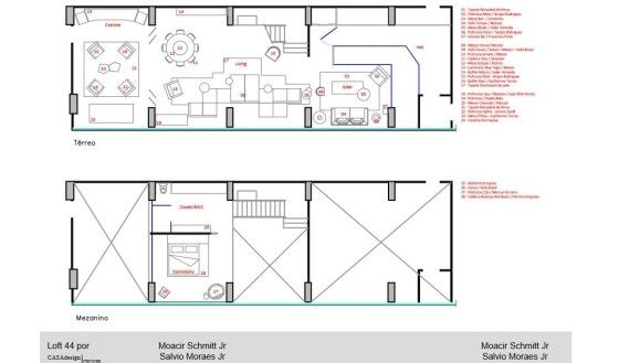 Planos de apartamento tipo loft