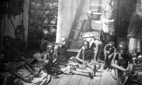 Over a four-hundred year period, 12 million Africans became American. Around two million didn't survive shipping. That's how they were treated, just property being transported. It grew and grew because they were too busy dying to have children. They were only steady in the U.S.