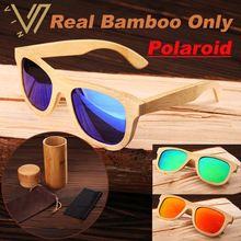 100% Real de Bambú Natural De Madera De Madera Con Espejo Espejo gafas de Sol Polarizadas Hombres Mujeres gafas de Sol de Los Hombres Gafas Gafas De Sol De Madera