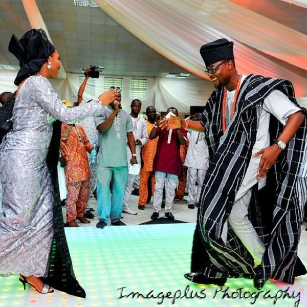 Nigerian wedding thanksgiving photos from Hadiza & Olamiju Akala black aso-oke in Ibadan 6