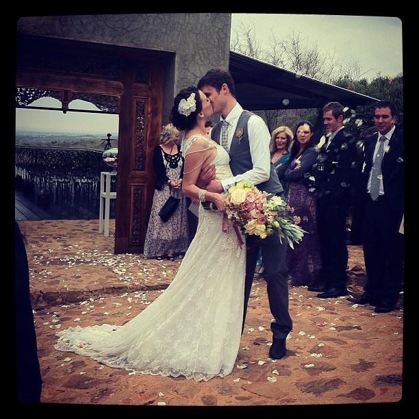 Carol-Anne & Andre Sonnekus - beautiful EcoBride & groom! #EcoBride