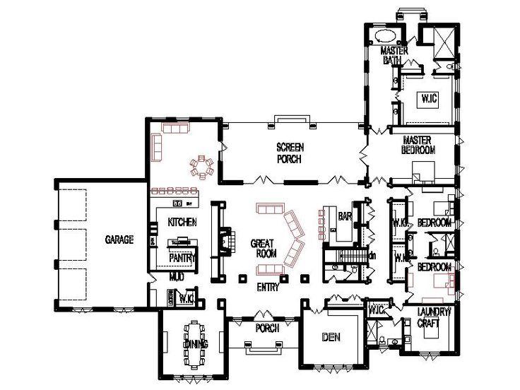 Unique open floor plans threebedroom custom 4 bedroom for Custom mansion floor plans
