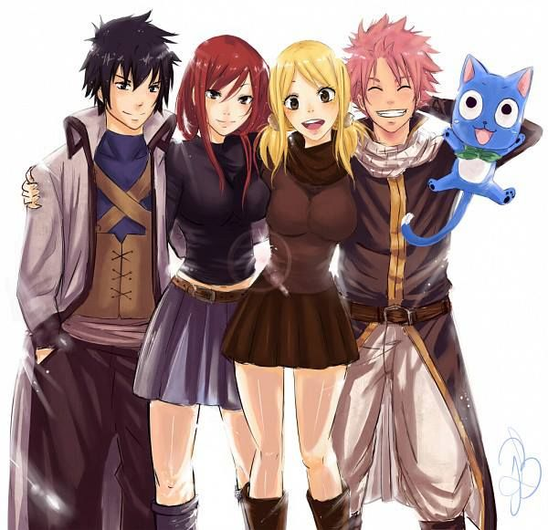 Fairy Tail, the best team ❤️ | Gray Fullbuster, Erza Scarlet, Lucy Heartfilia…